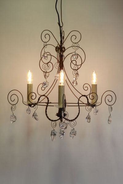 Lustre Stella 3 Lampes (finition bougie)