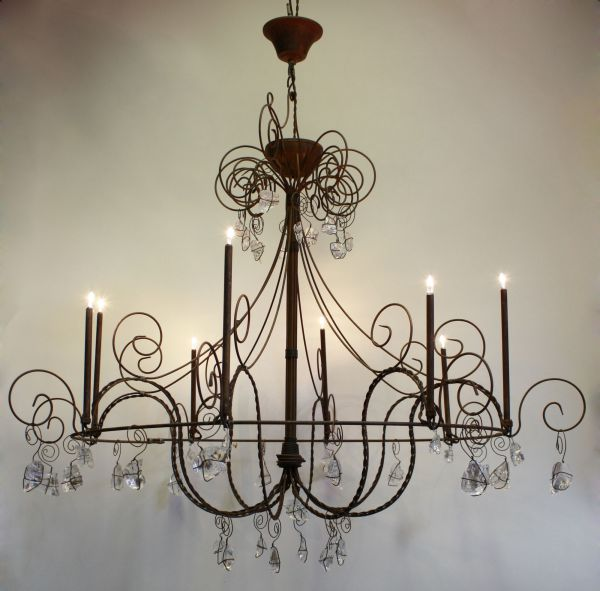 Lustre Stella 8 Lampes (finition chandelle)